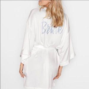 Victoria's Secret Satin Bridal Robe